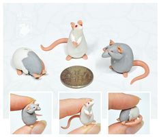 Set Of 3 Dime Rats ~ Tirramirr Commission by nEVEr-mor