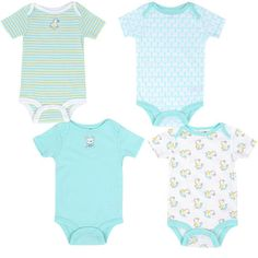 "Babies R Us Boys 4 Pack Bodysuit - Aqua - Babies R Us - Babies ""R"" Us"