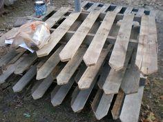 Pallet fence project, via Flickr.