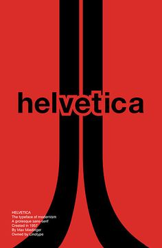 'Helvetica - Typeface Poster Series' by Nick Mann Max Miedinger, Typography Design, Lettering, Poster Fonts, Poster Series, Communication Design, Graphic Design, Film, Books