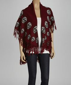 This Red Skull Open Cardigan by Raj Imports is perfect!