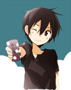 XD so cuteeee Kirito Kirigaya, Kirito Asuna, Sao Ggo, Tous Les Anime, Sword Art Online Wallpaper, Sword Art Online Kirito, Light Novel, Best Couple, Animation Film