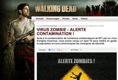 "To promote the launch of ""The Walking Dead"" in November 2012, French network NT1 ran a guerrilla #SocialTV campaign giving fans the thrill of being stalked by zombies."