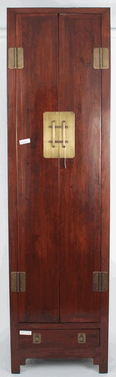 Asian Furniture: Asian-Inspired Tall and Slender Cabinet from China