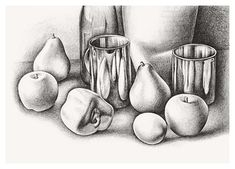 nice step by step for pencil still lifes