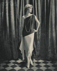 On the Diagonal Week: Marion Morehouse models Callot Soeurs dress, circa 1924. Photo by Edward Steichen via Corbis.