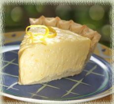 Meyer Lemon Custard-Cream Pie.  Might make this for my birthday instead of the traditional lemon meringue.