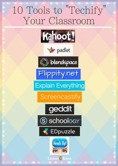 A vast array of technology tools that can be used in the classroom to increase student engagement, collaboration.. #edtech
