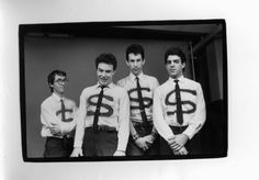 Dead Kennedys.  Klaus Flouride, Jello Biafra, East Bay Ray and I believe that is Bruce Slesinger (pre DH Peligro). One of the best punk rock band photos ever.