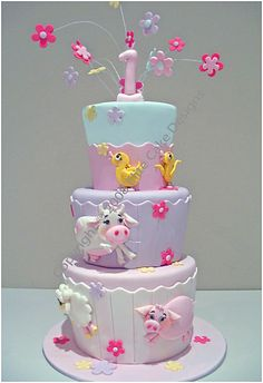 Farm Animals Birthday Cake, 1st Birthday Cakes Sydney Australia, Kid Birthday Cakes, Birthday Cake Designs, Children's Birthday Cakes