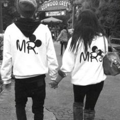 Matching couples sweatshirts