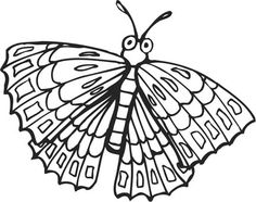 printable eric carle butterfly coloring pages | eric carle butterfly coloring page : Printable Coloring ...