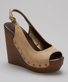 Another great find on #zulily! Beige Nancee II Wedge by Bonnibel #zulilyfinds