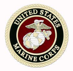 Uniformed Scrapbooks of America - 3 Dimensional Die Cut - Emblem - Marine at Scrapbook.com $5.99