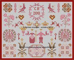 Toile Royal http://creationsdarachne.skynetblogs.be/archive/2013/10/31/toile-royale-style-quaker-grille-point-de-croix-gratuite-797.html