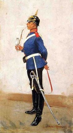 ART -Frederic Remington - A Prussian Officer by Frederic Remington