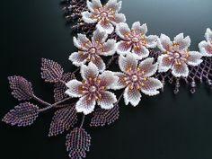Sakura floración gotas magníficas collar