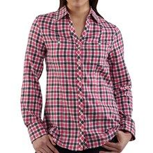 Carhartt Flannel Shirt - Long Roll-Up Sleeve (For Women) in Winter White - 2nds