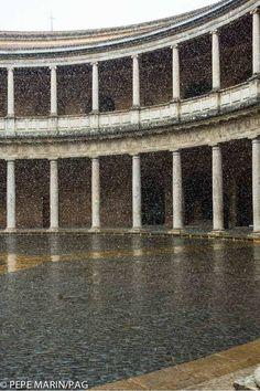 #Nieve en el Palacio de Carlos V