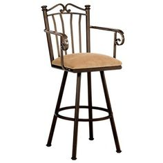 "Callee Sunset 34"" Swivel Bar Stool Frame Finish: Sun Bronze, Upholstery: Corona Earth"