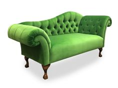 One of our favourites! An absolutely fabulous double-ended classic #chaise in Designers Guild Verese Emerald fabric on walnut ball & claw legs 🤩 #chaiselongue #chaiselounge #chaiselongueco #interiordesign #bespokefurniture #bepsokeseating #upholstery #madeinyorkshire Designers Guild, Bespoke Furniture, Chesterfield Chair, Chair And Ottoman, Sofas, Accent Chairs, Upholstery, Couch, Absolutely Fabulous
