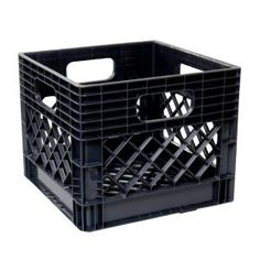 Gsc Technologies 11 In X 13 In X 13 In Black Milk Crate intended for dimensions 1000 X 1000 Milk Crate Storage Bin - Storage units are among the Plastic Milk Crates, Plastic Bins, Plastic Containers, Plastic Storage, Plastic Laundry Basket, Fabric Storage Baskets, Storage Bins, Diy Storage, Storage Ideas