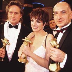 "Liza Minnelli Theatre on Instagram: ""Beautiful picture of Liza Minnelli with Michael Douglas and Ben Kingsley, who both received the Best International Actor Award, at the…"""
