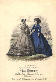 1860 Fashions expressly designed and created for the Queen, London