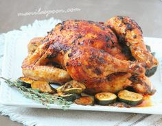 Manila Spoon: Garlic and Thyme Roasted Chicken with Courgettes (Zucchini)