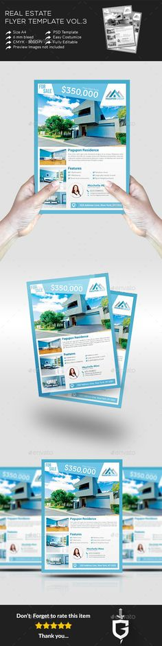 #Real #Estate Flyer Template Vol.3 - Commerce #Flyers Download here: https://graphicriver.net/item/real-estate-flyer-template-vol3/11322347?ref=alena994