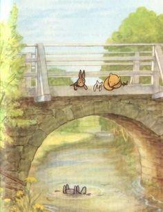 Winnie the Pooh, Eeyore, Piglet, Rabbit, Pooh Sticks