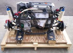 Subframe for Honda engine into a Mini shell