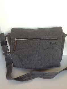 Messenger Crossbody Unisex Bag Gray Bargeline Fellice Designer Hip Business Chic #BargelineFellice #MessengerCrossBody