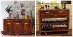 Klasyczna komoda, w której skryjesz wszystkie skarby czy szafka na ulubione wino? 🍷 Daj znać, którą opcję wybierasz (y)