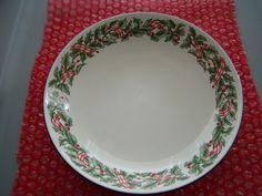 Holiday Ribbon Genuine Stoneware Christmas Bowl - $5.99