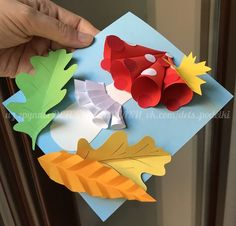 ДЕТСКИЕ ПОДЕЛКИ Autumn Crafts, Fall Crafts For Kids, Paper Crafts For Kids, Autumn Art, Projects For Kids, Diy For Kids, Diy And Crafts, Daycare Crafts, Toddler Crafts