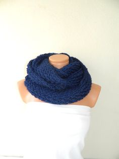 Knitted infinity Scarf Block Infinity Scarf by WomensScarvesTrend, $39.00