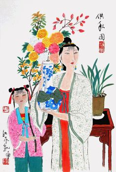 Art prints: Fall by Hu Yongkai 69x46cm
