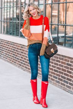 I love this fun $25 colorblock sweater! I saw it and loved the color pairing. It's super soft and comfy!