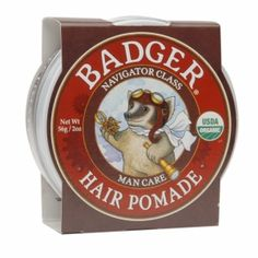 EWG Rating of 1, thinking of using this on the little guy's hair when he is a bit older.  Buy Badger Hair Pomade with free shipping on orders over $35, low prices & product reviews   drugstore.com