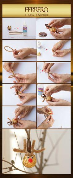 Sigue estos simples pasos y realiza un hermoso adorno navideño para tu árbol con Ferrero Rocher.