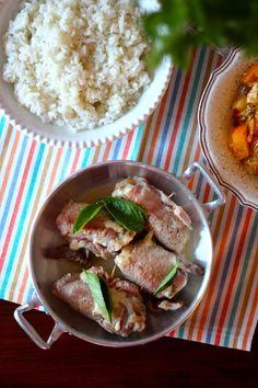 As Minhas Receitas: Rolinhos de Porco com Fiambre, Queijo e Manjericão