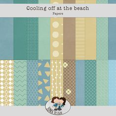 Oscraps.com :: Shop by Category :: All New :: SoMa Design: Cooling Off At The Beach - Kit Scrapbook, Kit, Quilts, Blanket, Cool Stuff, Paper, Beach, Shop, Design