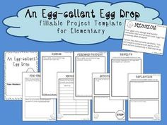 Great STEM activity! Looking for a fun science project for kids? How about an egg drop?! Great outline to guide students through the inquiry process.