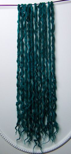 10DE Topaz mermaid Locs Icelandic Wool Dreads by NVCL3ARBVTT3RFLY...I have them available here: https://www.etsy.com/shop/NVCL3ARBVTT3RFLY
