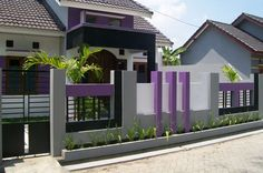 40 Minimalist Wall Fence Models - Speaking of building a house, there are many things that we must pay attention . Fence Wall Design, House Front Design, Fence Design, Minimalist House Design, Modern Minimalist, Boundry Wall, Affordable Bedroom Sets, Compound Wall Design, Home Developers