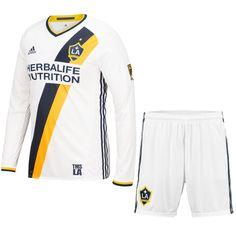 a8165d6b9 LA Galaxy Jersey 2016 Home LS Soccer Shirt (Shirt+Shorts) Cheap Football  Shirts