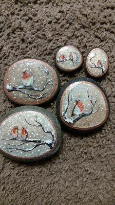 (notitle) - Art Rocks (my paints) - Pebble Painting, Pebble Art, Stone Painting, Diy Painting, Painting On Wood, Stone Crafts, Rock Crafts, Rock Painting Designs, Painting Patterns