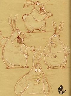 Big Bunny Expression Studies, Vipin Jacob on ArtStation at https://www.artstation.com/artwork/8r18m