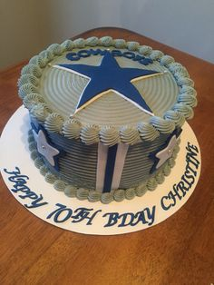 Astounding 33 Best Dallas Cowboys Cakes Images Dallas Cowboys Cake Cowboy Birthday Cards Printable Benkemecafe Filternl